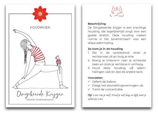 Yogahouding omgekeerde krijger yoga